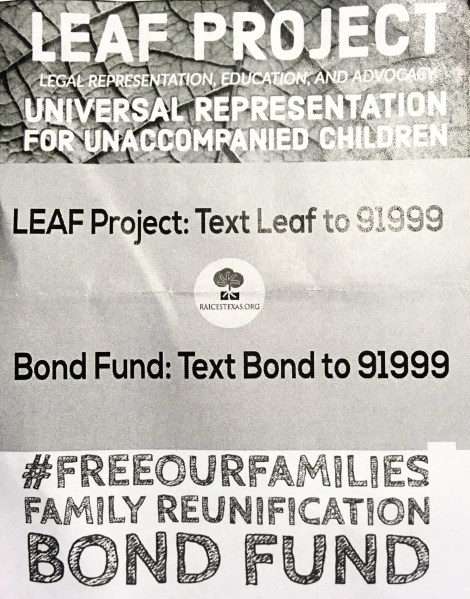 RAICES: LEAF Project for Universal Representation for Unaccompanied Children