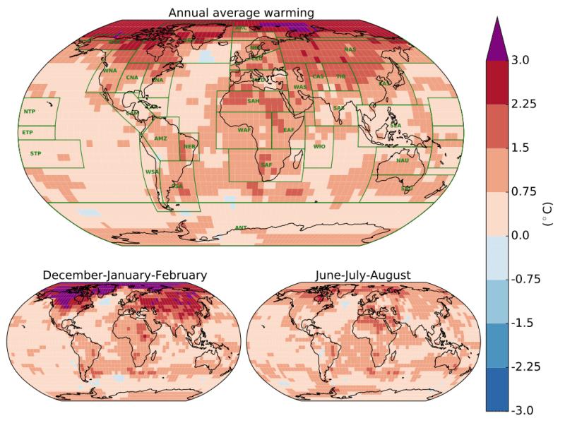 IPCC Warming Map