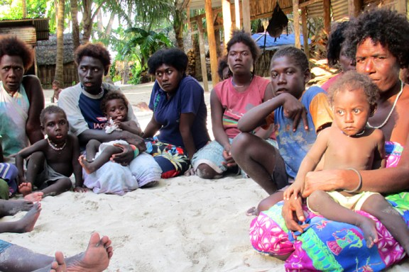 Women and children of the Carterets Islands