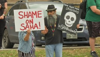 SAHA protest