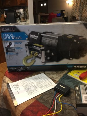 I Have A Traveller 4500 Lb Winch Model # 1078311 And Need To Know How To ****   DIY Forums