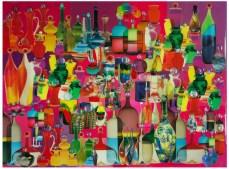 "Robert Swedroe, Bottled Up (2008), Mixed Media on Board, 23"" x 24"""