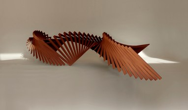 Robert Winkler, Going To (current work in progress), Cor-ten steel, 4'H x 6' x 19', Commission Available