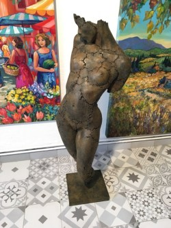 "Philippe Morel ""Patricia Timide"" Bronze Edition: A/P III/IV Size: 40"" x 9"" Base: 5x10.5 "" (Price upon request) ""The nude is not the subject of art, but a form of art."" —Kenneth Clark"
