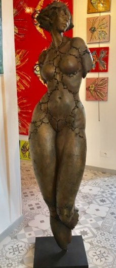 "Philippe Morel ""Grande Leonor"" Bronze, France size: 67x14 "" base: 5x12 "" Edition: 2/8 (Price upon request) The nude is not the subject of art, but a form of art. —Kenneth Clark"