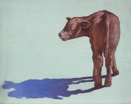 Calf in Peridot 9x10