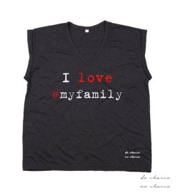 camiseta mujer i love myfamily gris 2 www.decharcoencharco.com