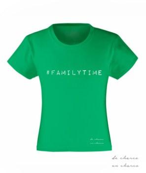 camiseta niña familytime verde www.decharcoencharco.com