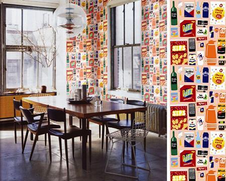 papel-pintado-de-temas-culinarios 2 www.decharcoencharco.com
