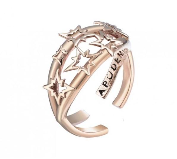 anillo-abierto-de-oro-rosa-cluster apodemia www.decharcoencharco.com