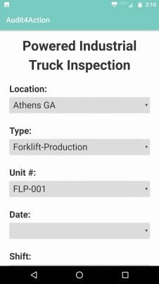 Truck inspection mobile screenshot