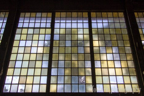 The colorful windows of the gym. (Camera: Canon Rebel T3i)