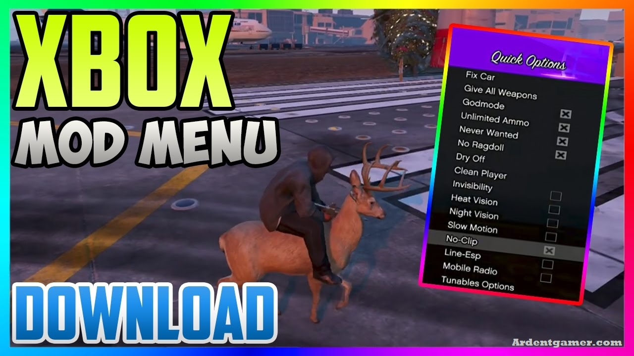 Established on pmc • posted 2 years ago. GTA 5 Mods Xbox One & 360 incl Mod Menu Free Download ...