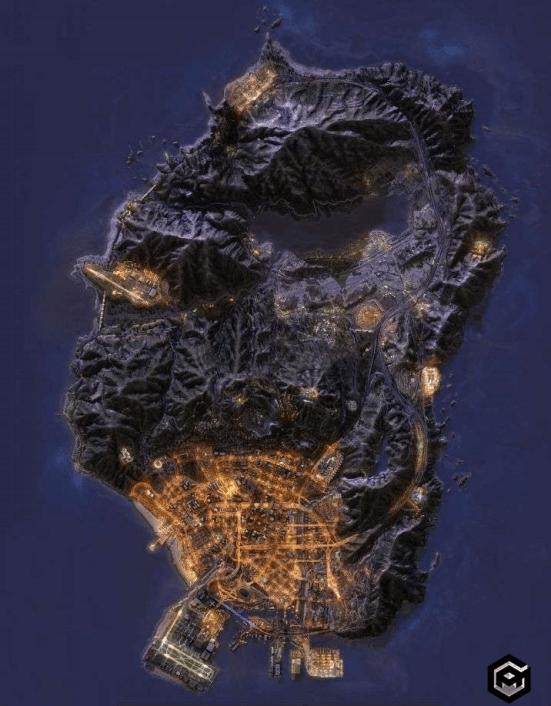 GTA 5 map in night mod