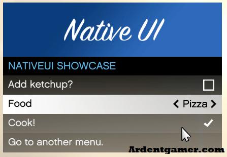 NativeUI Mod Menu Template Free Download For GTA 5 Mods