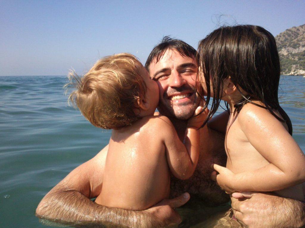 Muy feliz con mis hijos