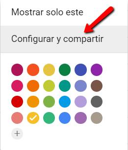 Configurar y compartir calendarios en Google Calendar