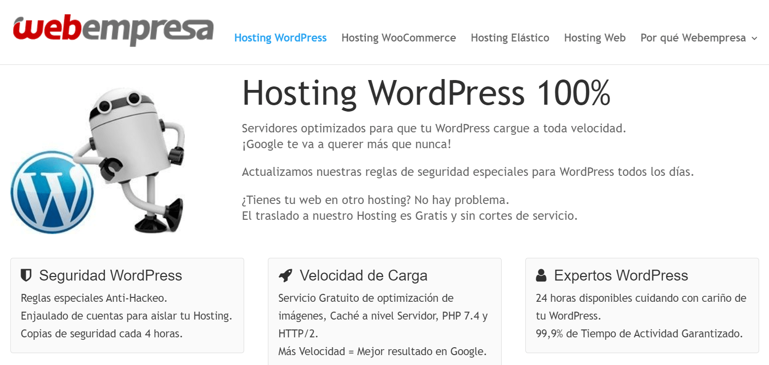 Hosting de tu blog en WebEmpresa