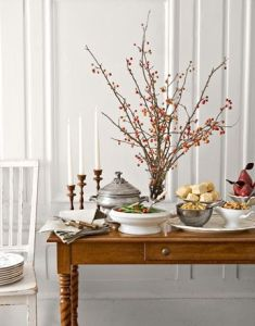 Thanksgiving Dinner Hacks: is your table to full? Then consider a buffet Table