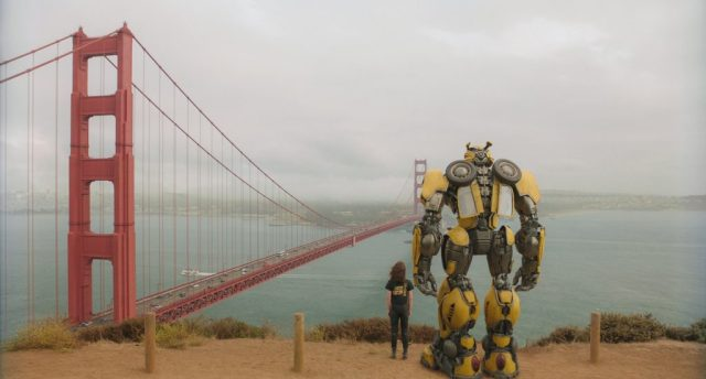 bumblebee movie image of San Francisco