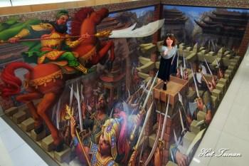 【台南景點】全台廟宇獨有的3D地景藝術就在龍崎文衡殿!假日開放限定~