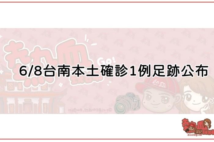 6/8台南本土確診1例足跡公布,相關場所台南市政府已消毒完畢!