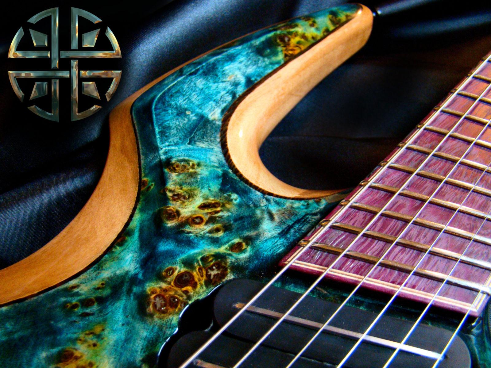 nebula-purpleheart fretboard