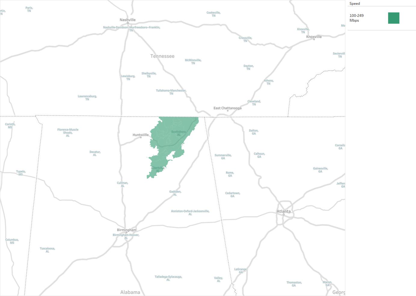 North Alabama Electric Cooperative Availability Areas