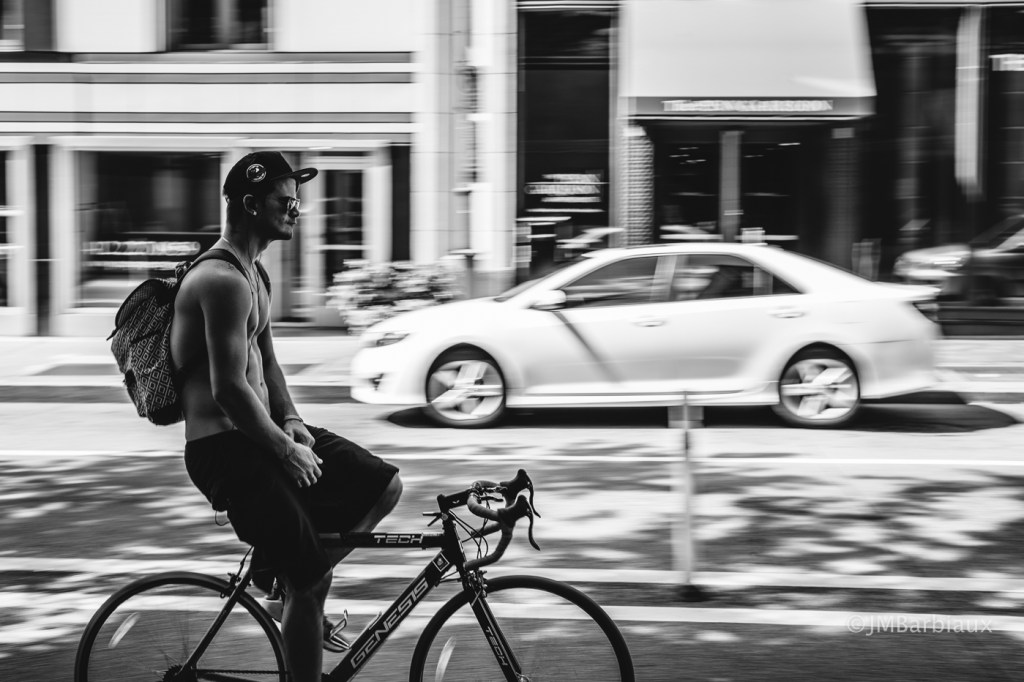 Panning requires specific settings far different from day to day street photography.