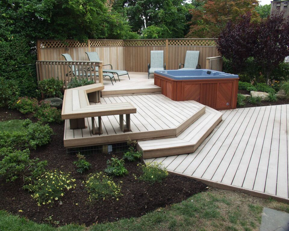 Backyard Upgrades on Deck And Hot Tub Ideas  id=47678