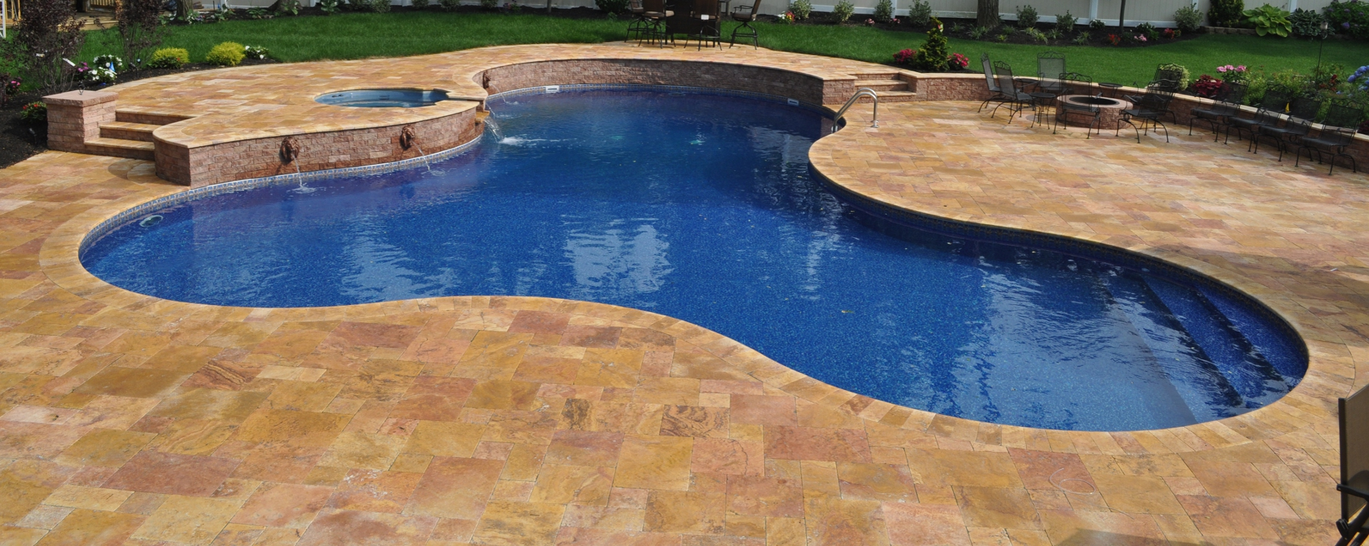 inground swimming pools massapequa park ny 11762 builders contractors company deck and patio natural stones
