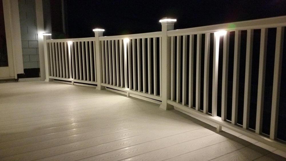 timber tech deck lites at deck builder