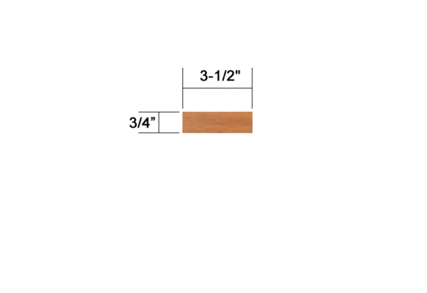 "3-1/2""*3/4"" cumaru decking"