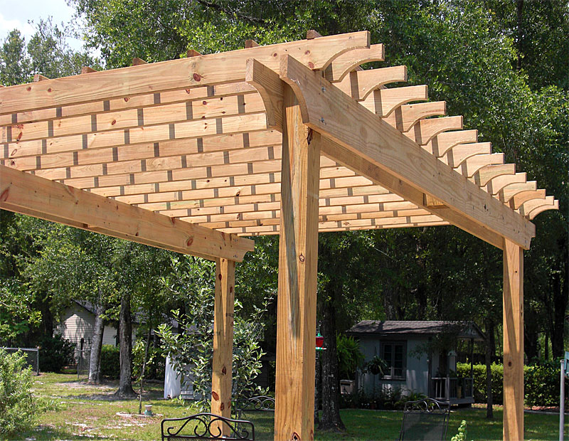 Pergola Gallery Supreme Deck Trexpro Platinum Top Deck