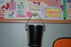 The bucket for our finished activities