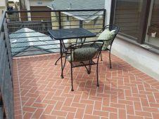 Herringbone brick looks good!