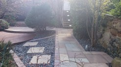Here is a picture of a job that we completed for a client in Stockbridge. Edinburgh, see more examples at www.garden-co.com. The sandstone steps have lights installed to risers visible to top right. Also walk over lights fitted to edge of path .