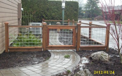 """Hog panel"" fence"