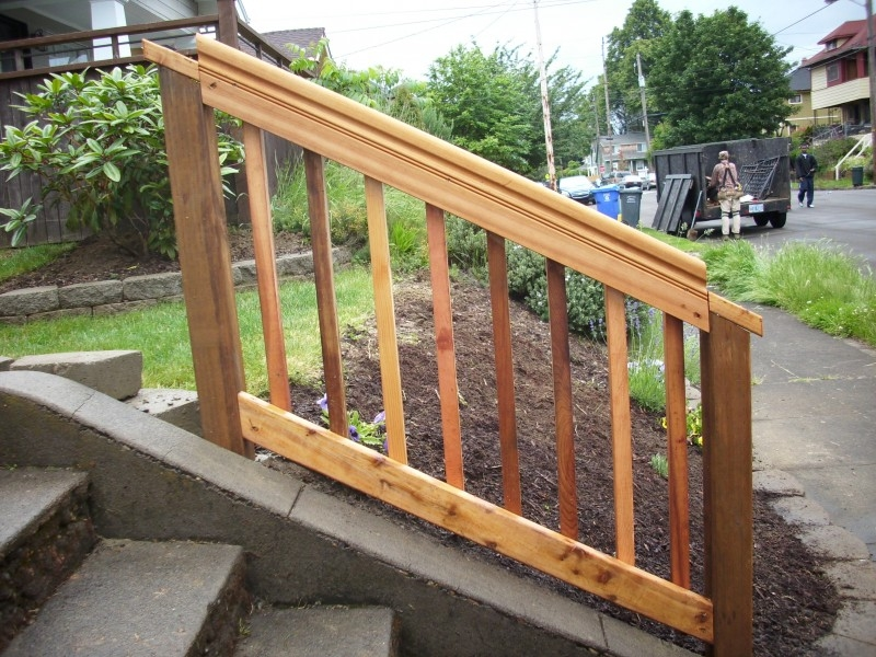 Cedar Hand Rail Deck Masters Llc | Pressure Treated Graspable Handrail