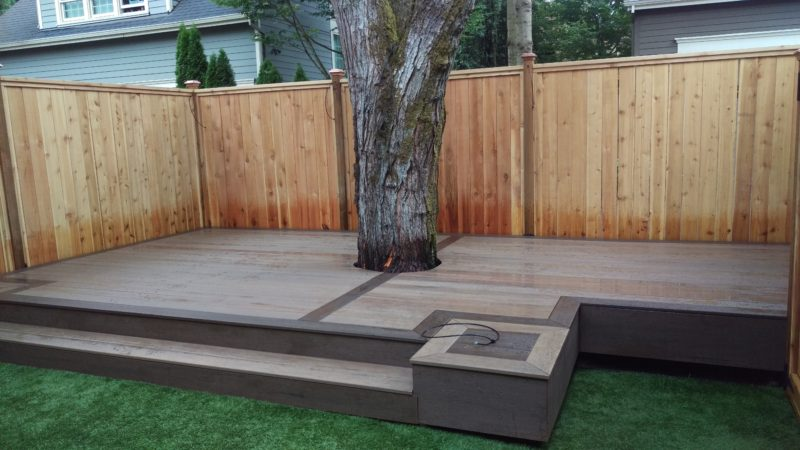How hot does composite decking get?