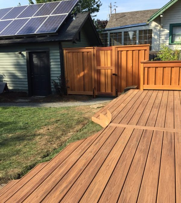 Curved composite deck