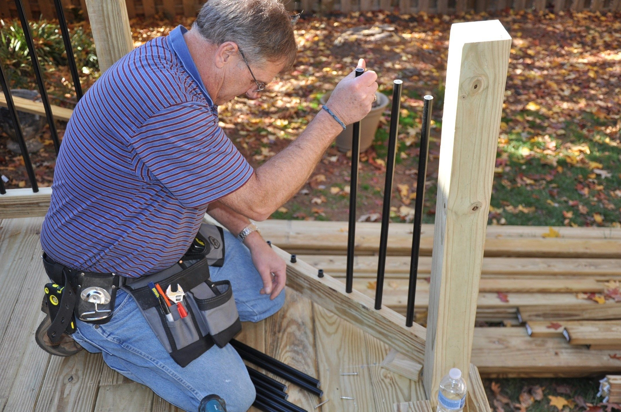 How To Install Deck Rail Balusters Decks Com   Installing Aluminum Stair Railing   Baluster   Deck Stair   Balcony Deck   Railing Systems   Pressure Treated