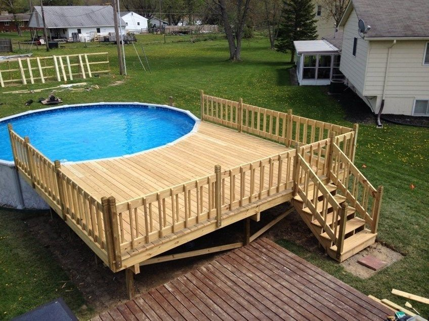 Above Ground Pools Decks Installed