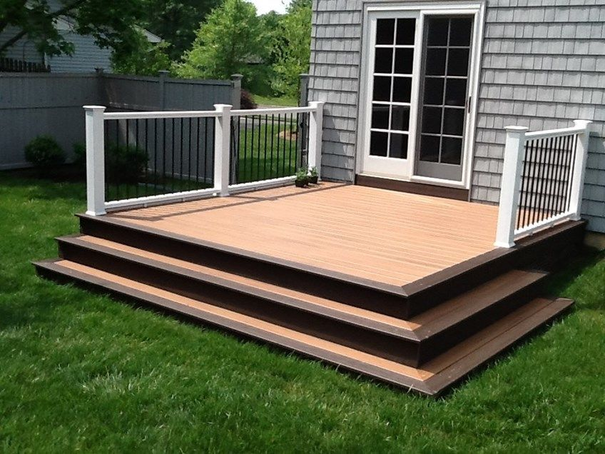 Decks.com. Picture Framed In Ewing Twp. - Picture 1131 on Simple Back Deck Ideas id=13538