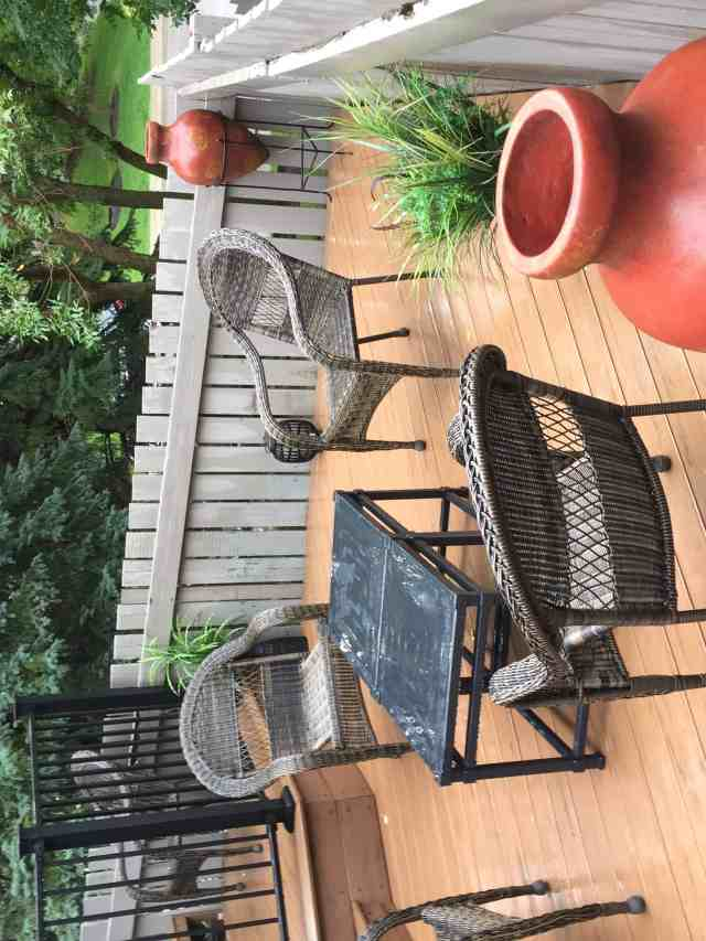 Composite Deck with chairs