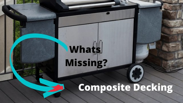 Whats Missing under Grill on Composite Deck