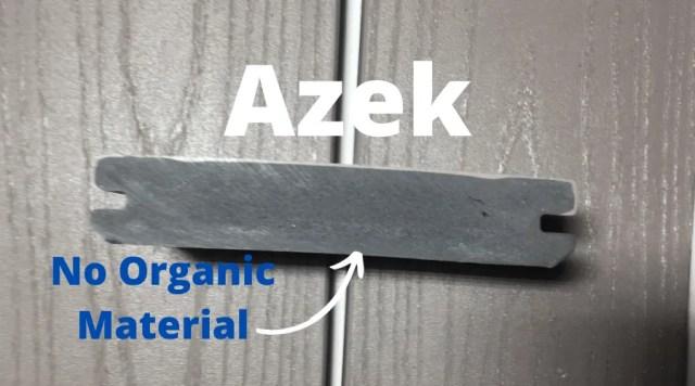 Azek, no organic material