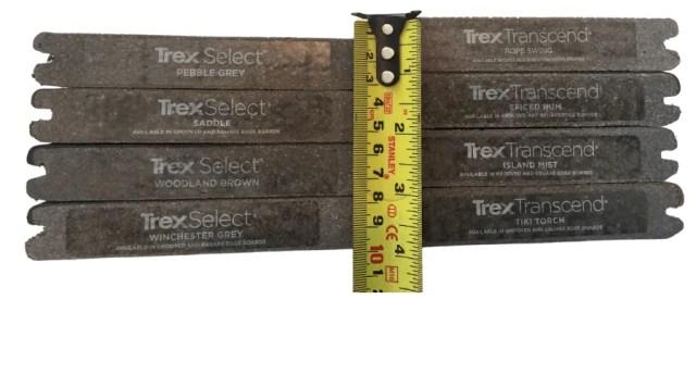 Trex Select transcend thickness comparision