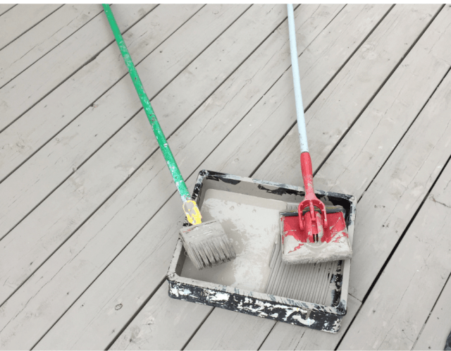 both brush and pad tools for deck