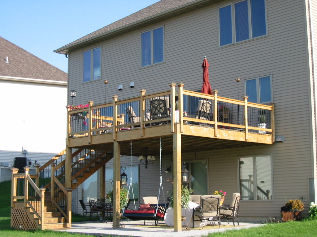 Screened porch or deck? 5 important considerations in ... on Deck Over Patio Ideas id=57451